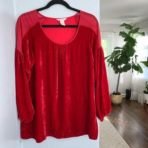 Sundance Red Velvet Top